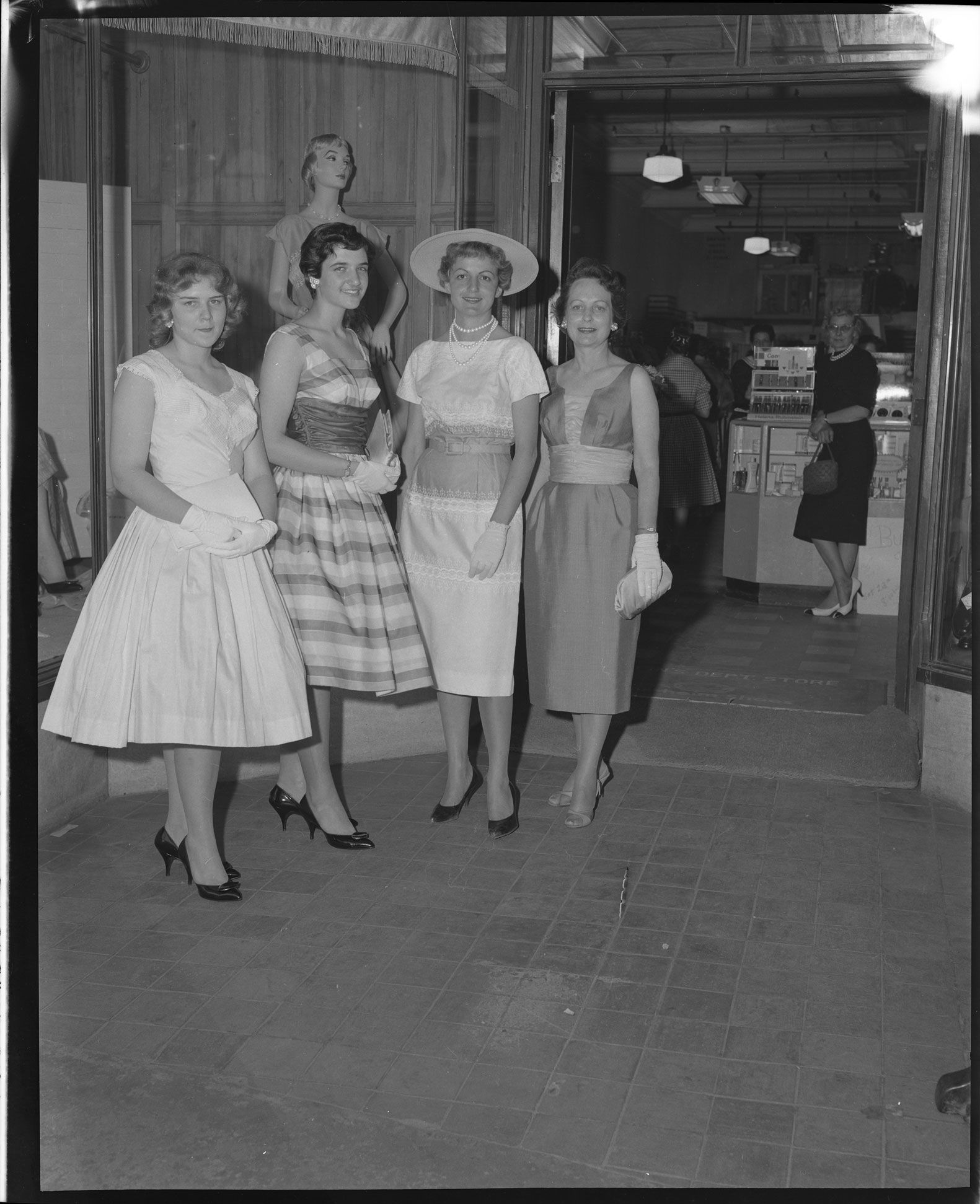 Fashion models at Schein's Department Store