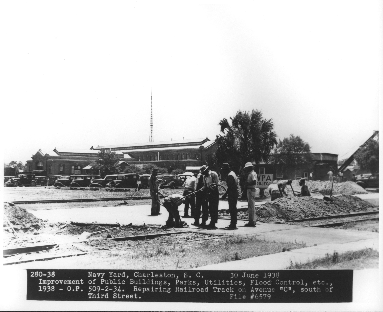 Repairing Railroad Track on Avenue