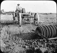Tractor with Harrow and Pulverizer, Lima, Peru, So. Amer.