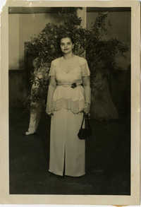 Miriam DeCosta Seabrook standing indoors