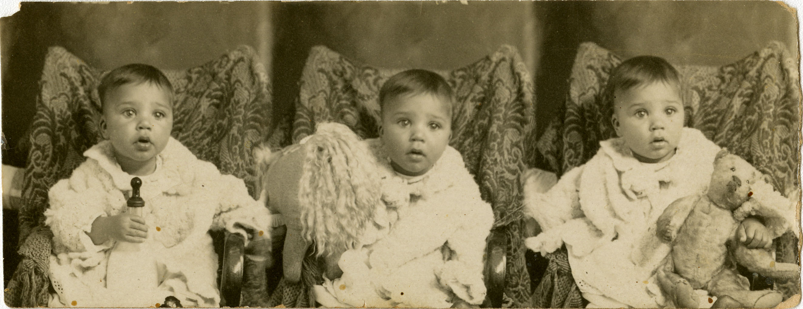 Composite photograph of infant