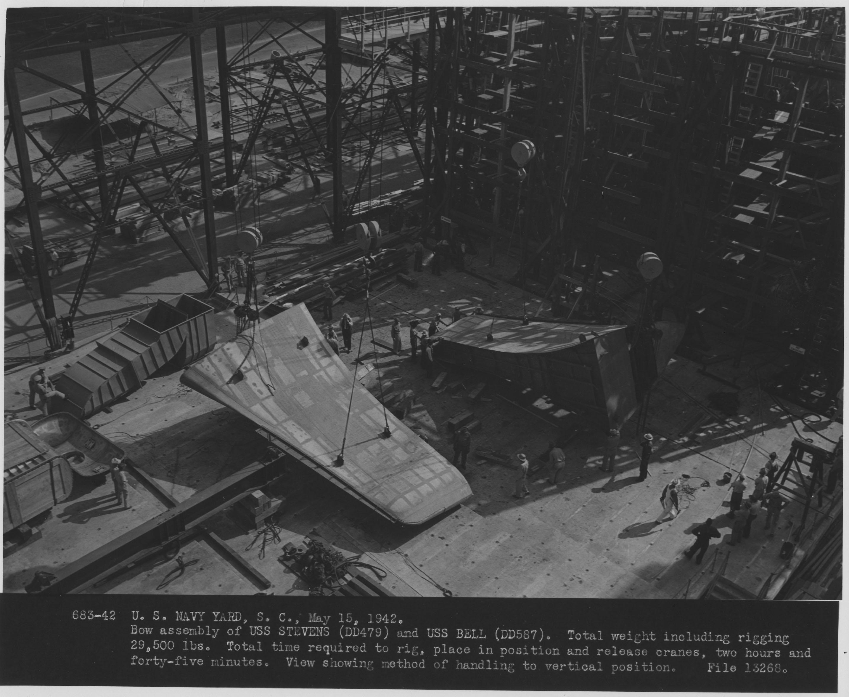 USS Stevens (DD479) and USS Bell (DD587)
