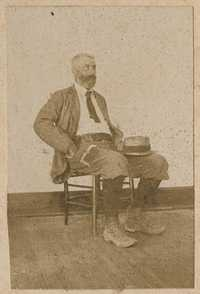 Conrad Donner sitting in chair