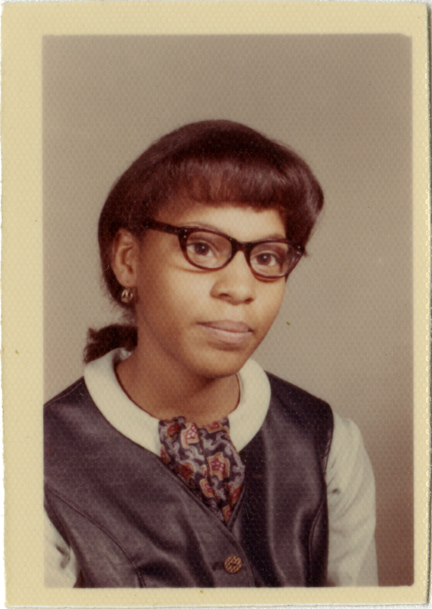 School photograph of Sharon Peters
