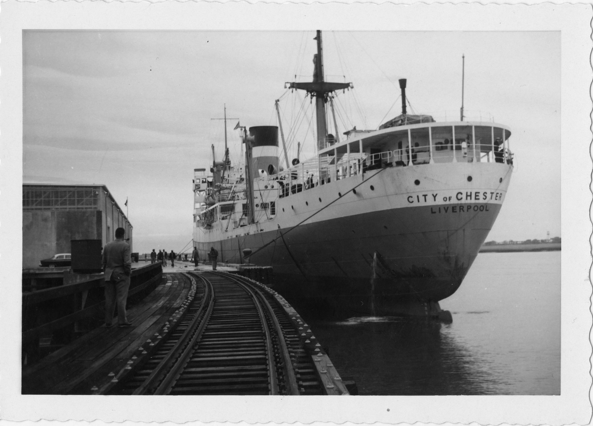 The City of Chester of Liverpool docked at Port of Port Royal