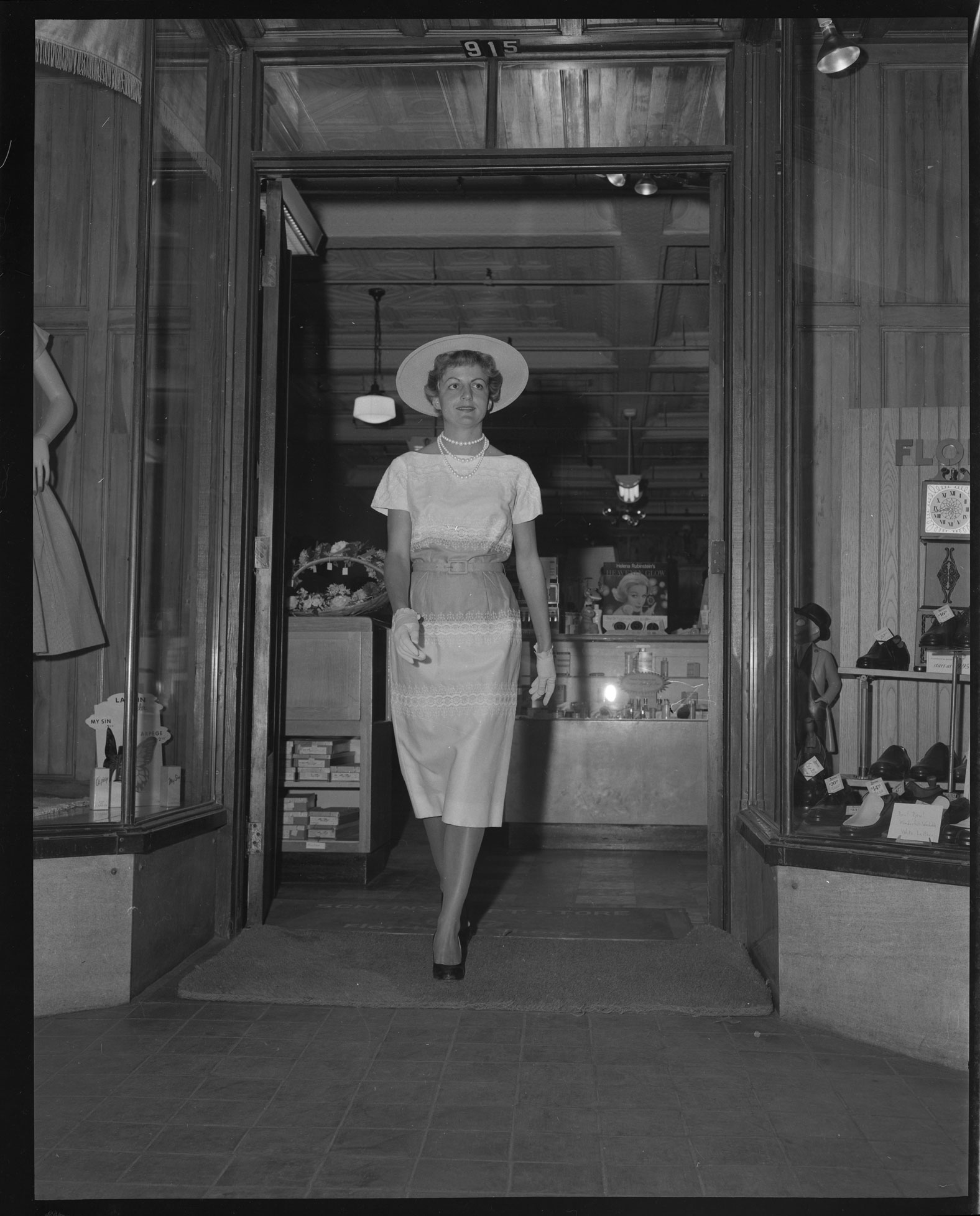 Modeling fashions at Schein's Department Store