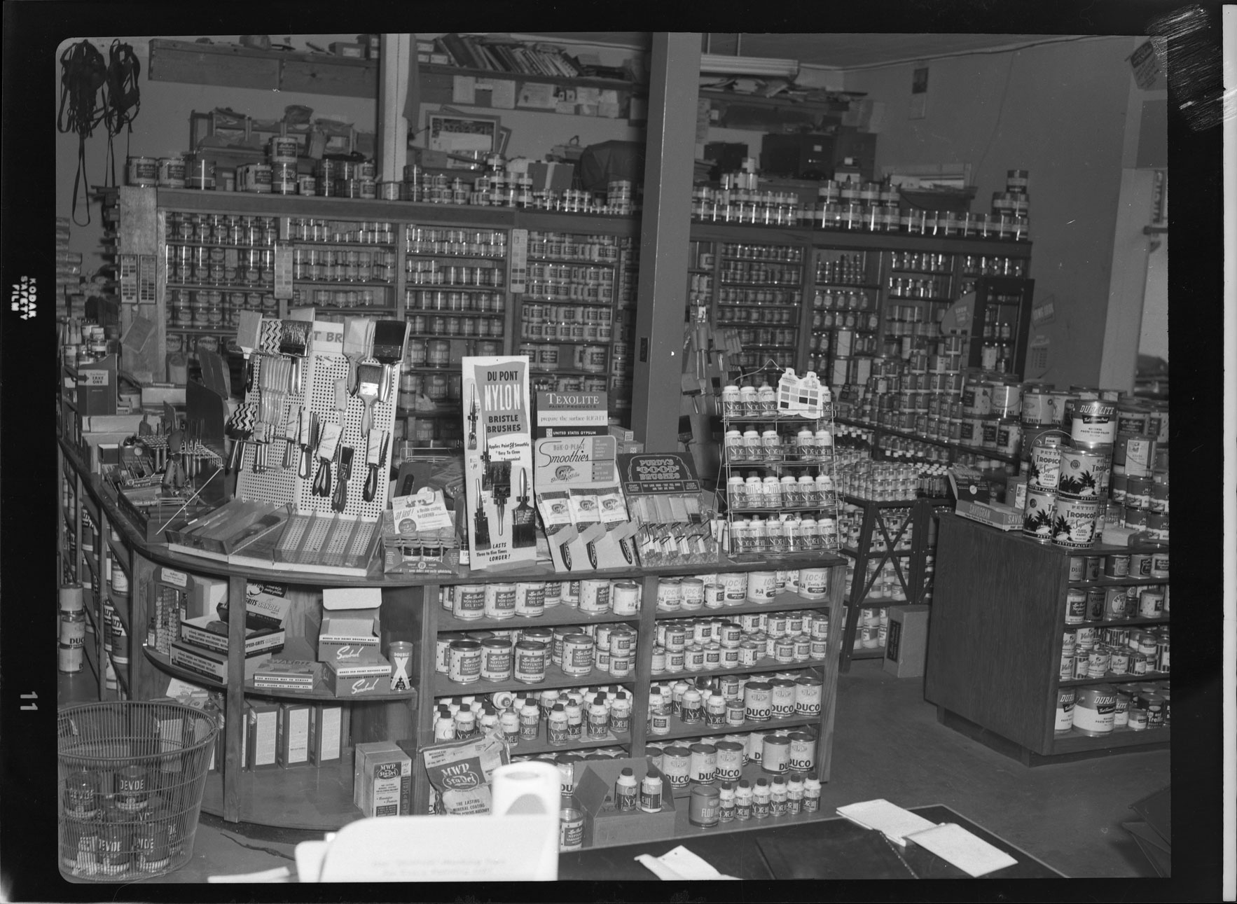 Paint and painting supplies on display in Fordam Hardware