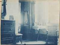 Room interior. Rocking chair.