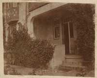 Yard in rear of West Philadelphia row house