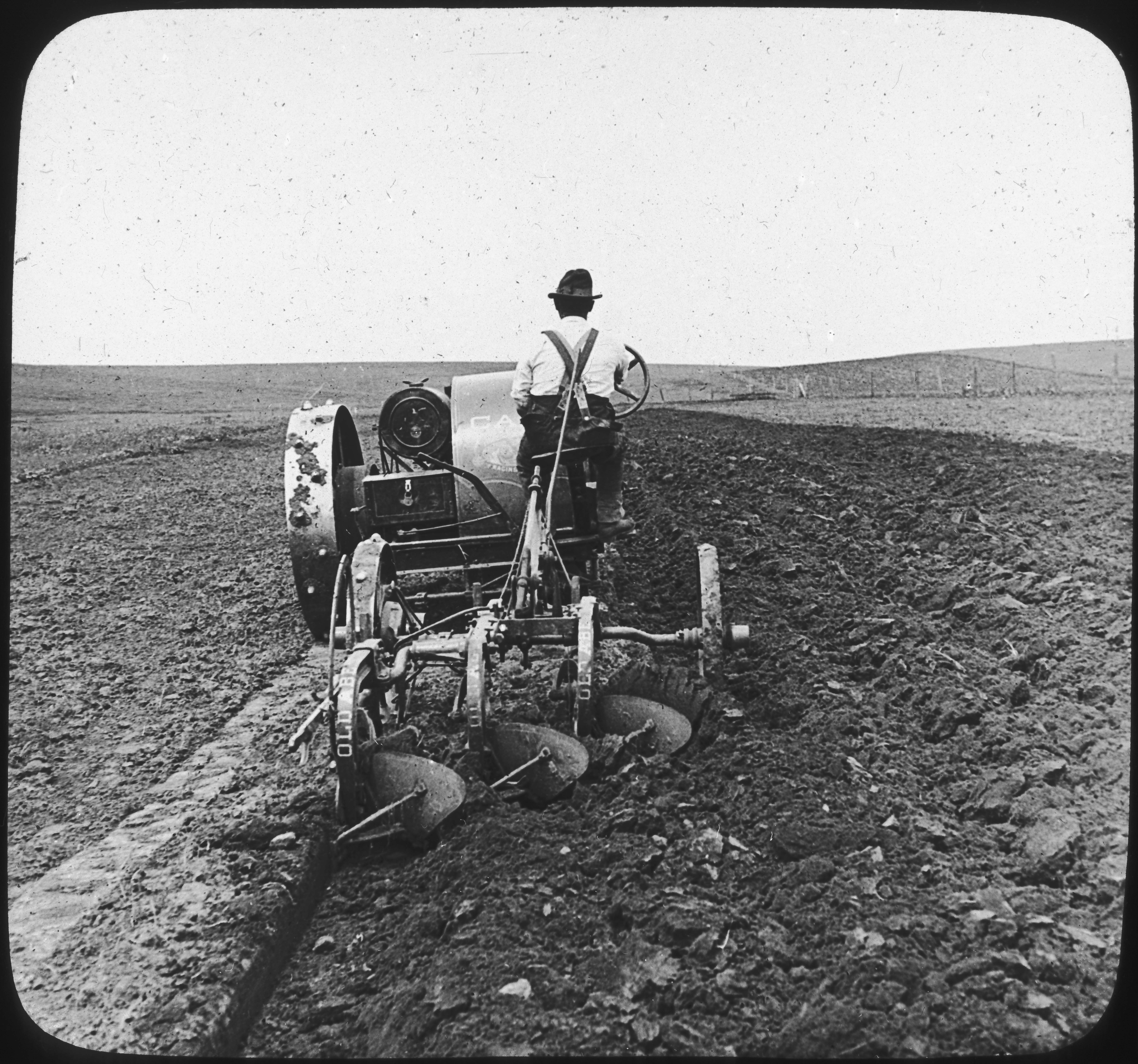 Plowing Prairie Soil with Tractor, S. Dak.