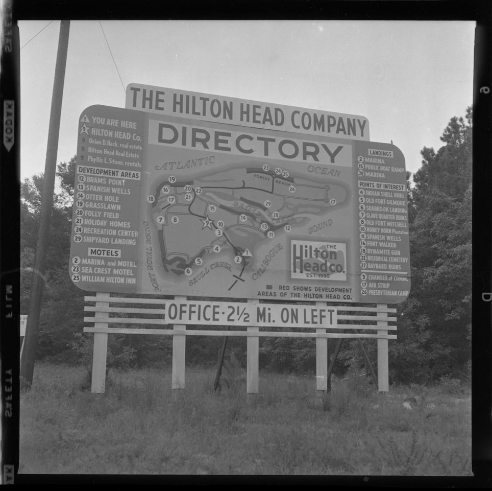 Hilton Head Company Directory sign and map