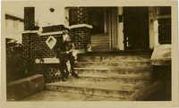Man sitting on porch step