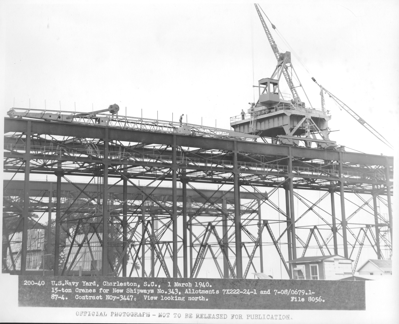 15-ton Cranes for New Shipways