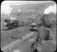Steam Shovel at Work, Iron Ore Mine, Mesabi Range, Minn.
