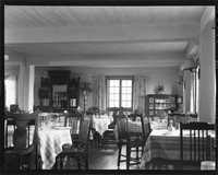 Dining room of the Gold Eagle Tavern