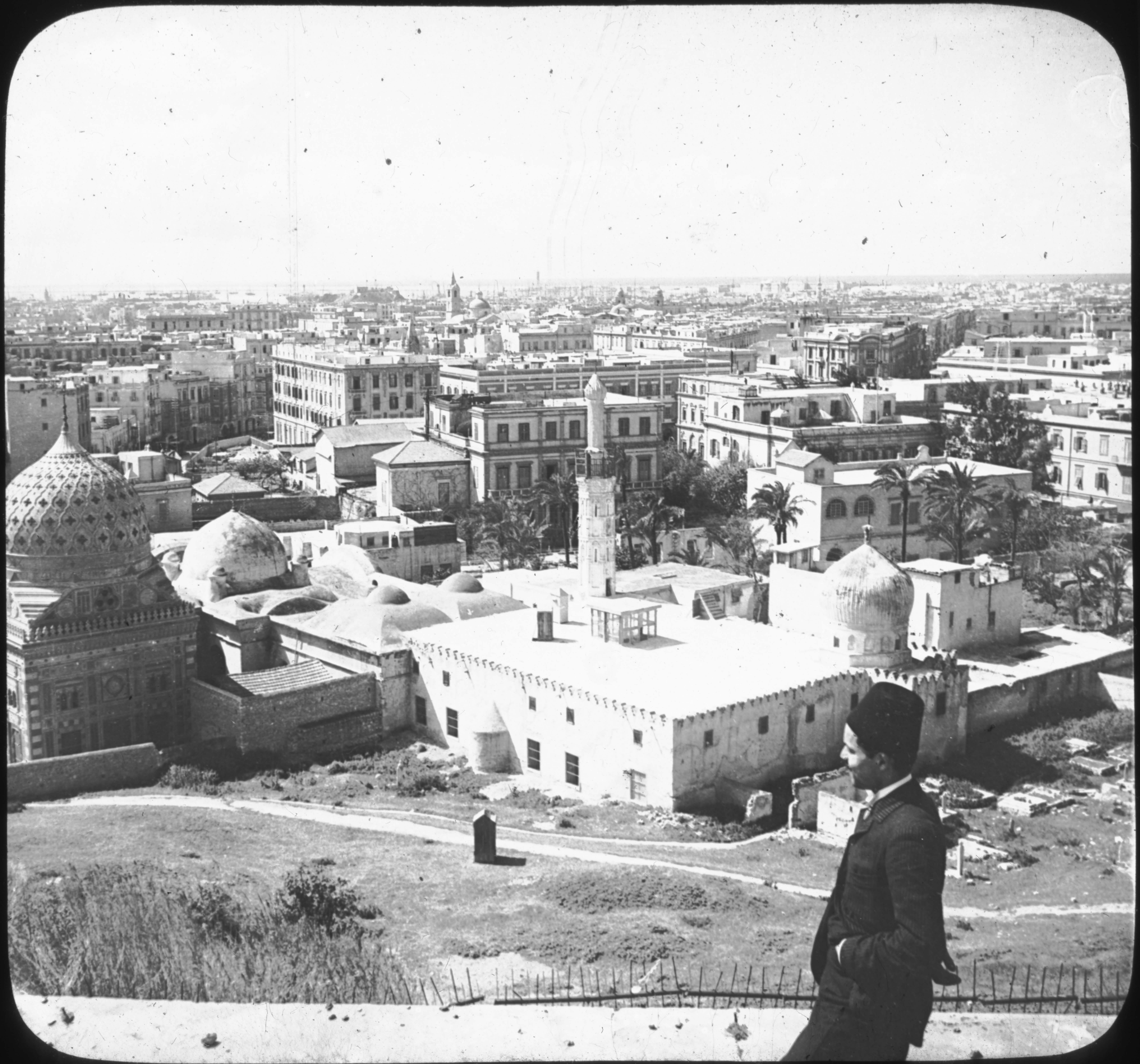 Bird's-eye View of Alexandria, Egypt.