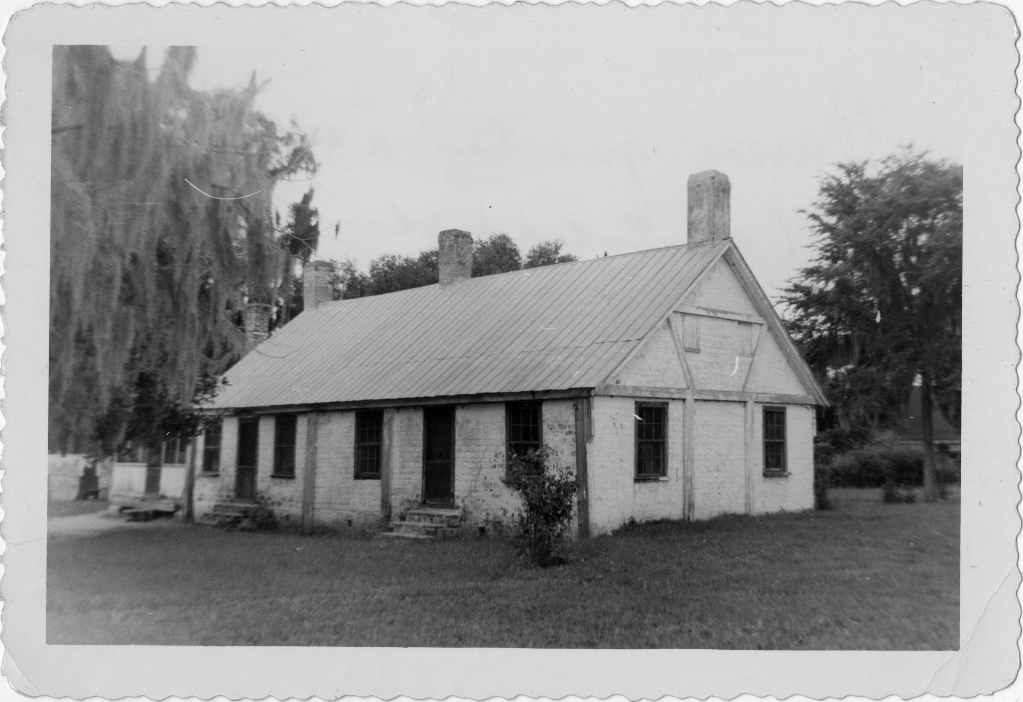Nurses quarters attached to (demolished) slave quarters on New Port Plantation Combehee [sic] River
