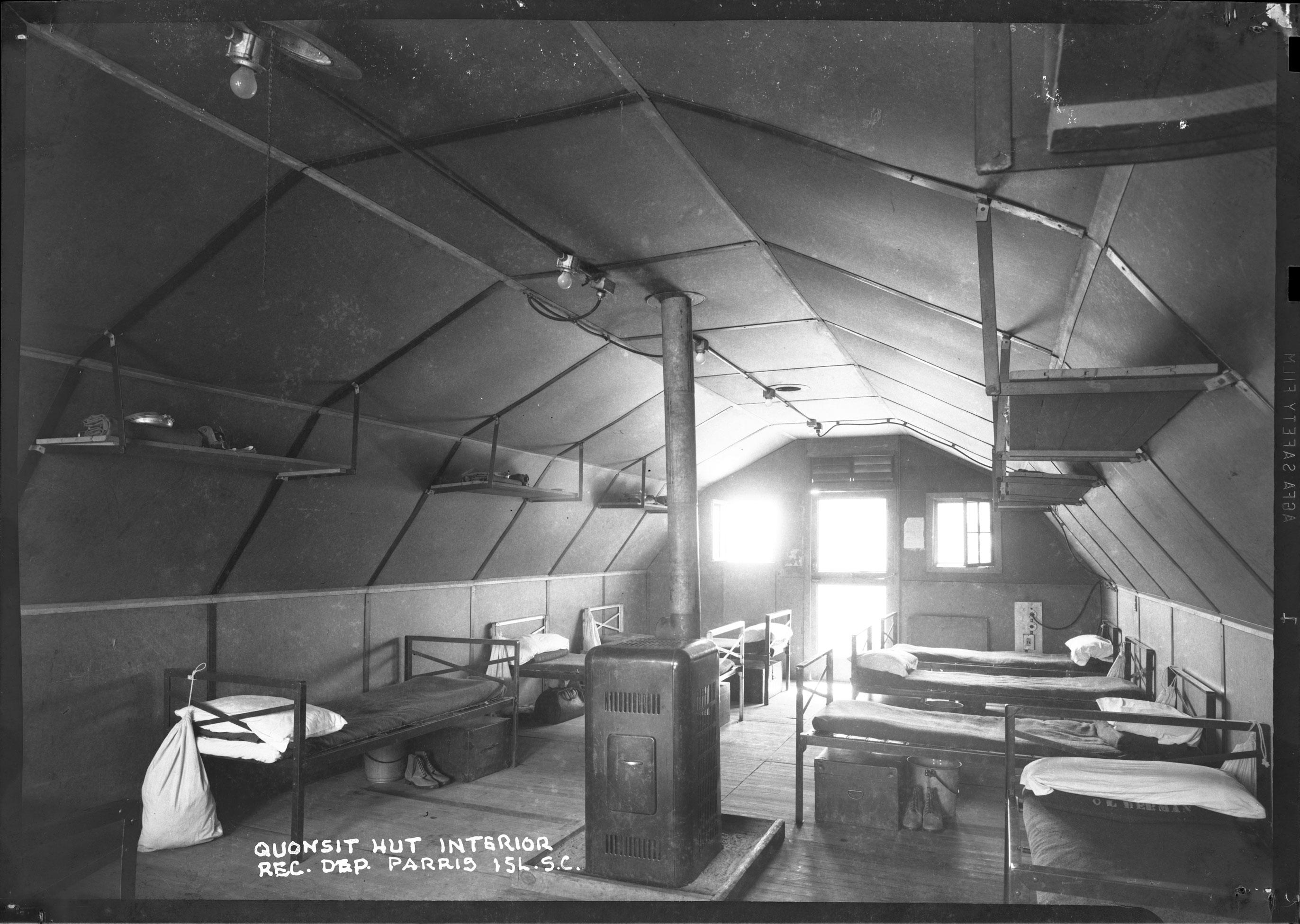 Quonsit Hut Interior Rec. Dep. Parris Isl. S.C.