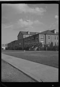 Wide view of the Headquarters Weapons Training Battalion building