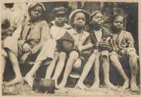 Group of unidentified African American children