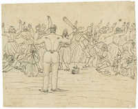 [Sketch of a pogrom]