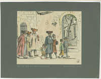 On the way to the synagogue / בדרך לבית-הכנסת