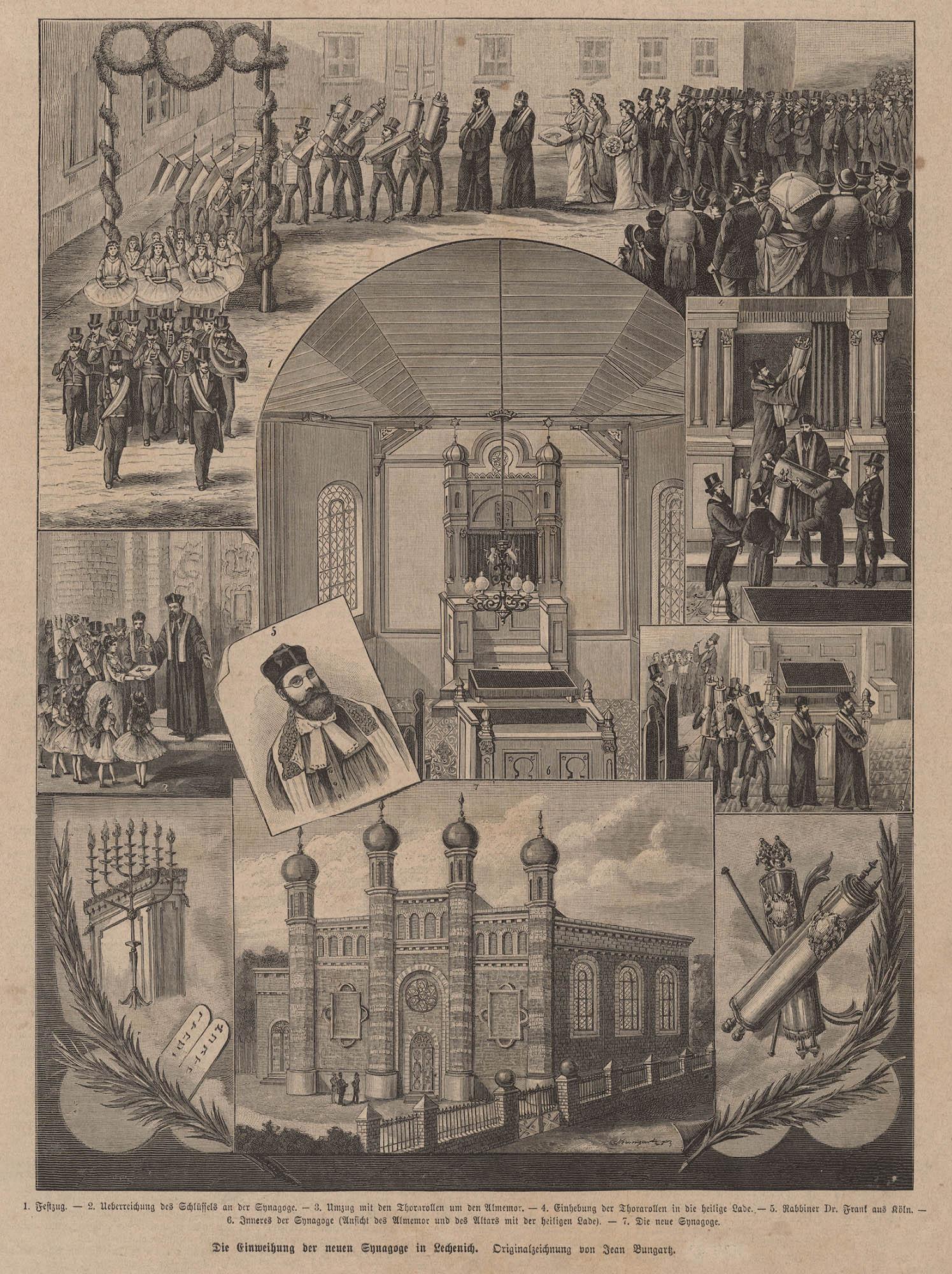 Die Einweihung der neuen Synagoge in Lechenich