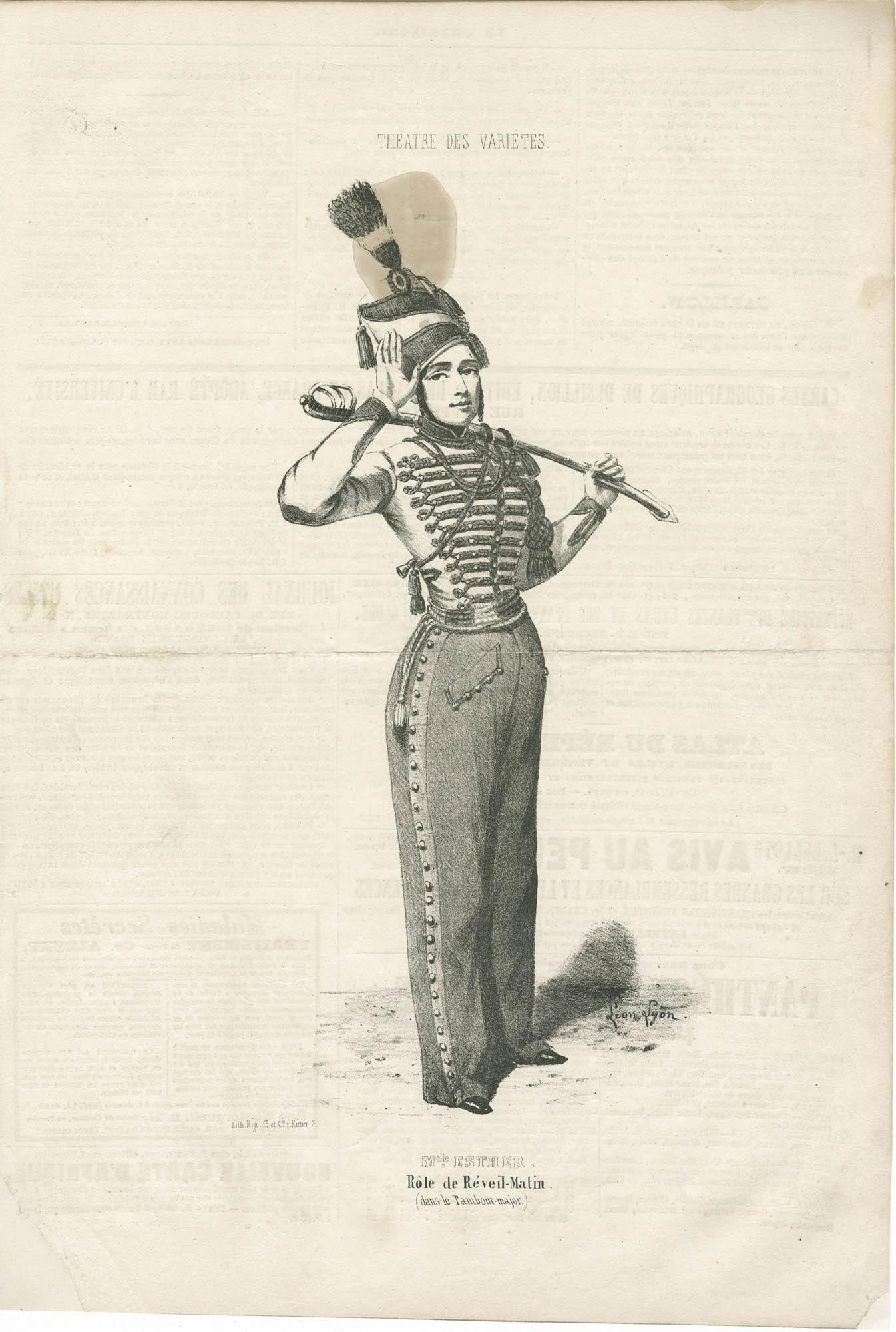 Mlle. Esther, Rôle de Réveil-Matin (dans le Tambour-major)