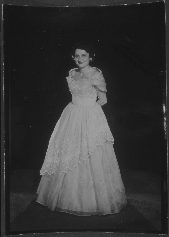 Renee in bridal gown 1953