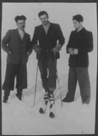 Pincus skiing instruction 1946