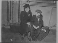Renee and Michael arriving in New York 1947