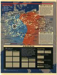 Concentration camps, map and table