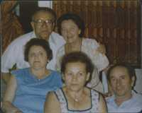 Pincus and Renee with other survivors, Tel Aviv, Israel 1960s