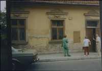 Pincus Kolender's childhood home in Bochnia, Poland 1993