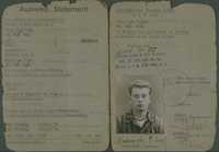 Pincus Kolender's ID card, Pocking, Germany 1945