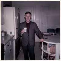 Joe Engel at aunt's house, Charleston, S.C., 1950's