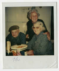 Mr. and Mrs. Hertaux with Germaine Ajzensztark, 1985