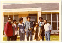 Photograph: Cleveland Sellers and others outside of the South Carolina Department of Corrections