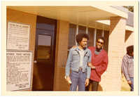 Photograph: Cleveland Sellers and associate outside of the South Carolina Department of Corrections