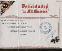 Telegram to Felix Bauer in Dominican Republic, 1940