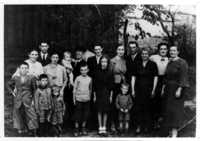 Engel family portrait, Zakroczym, Poland, 1938