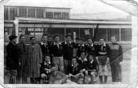 Hapoel soccer team in DP (displaced persons) camp Zeilsheim, 1946