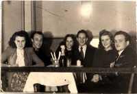Harry Blas, Erika Stockfleth prenuptial party 1951