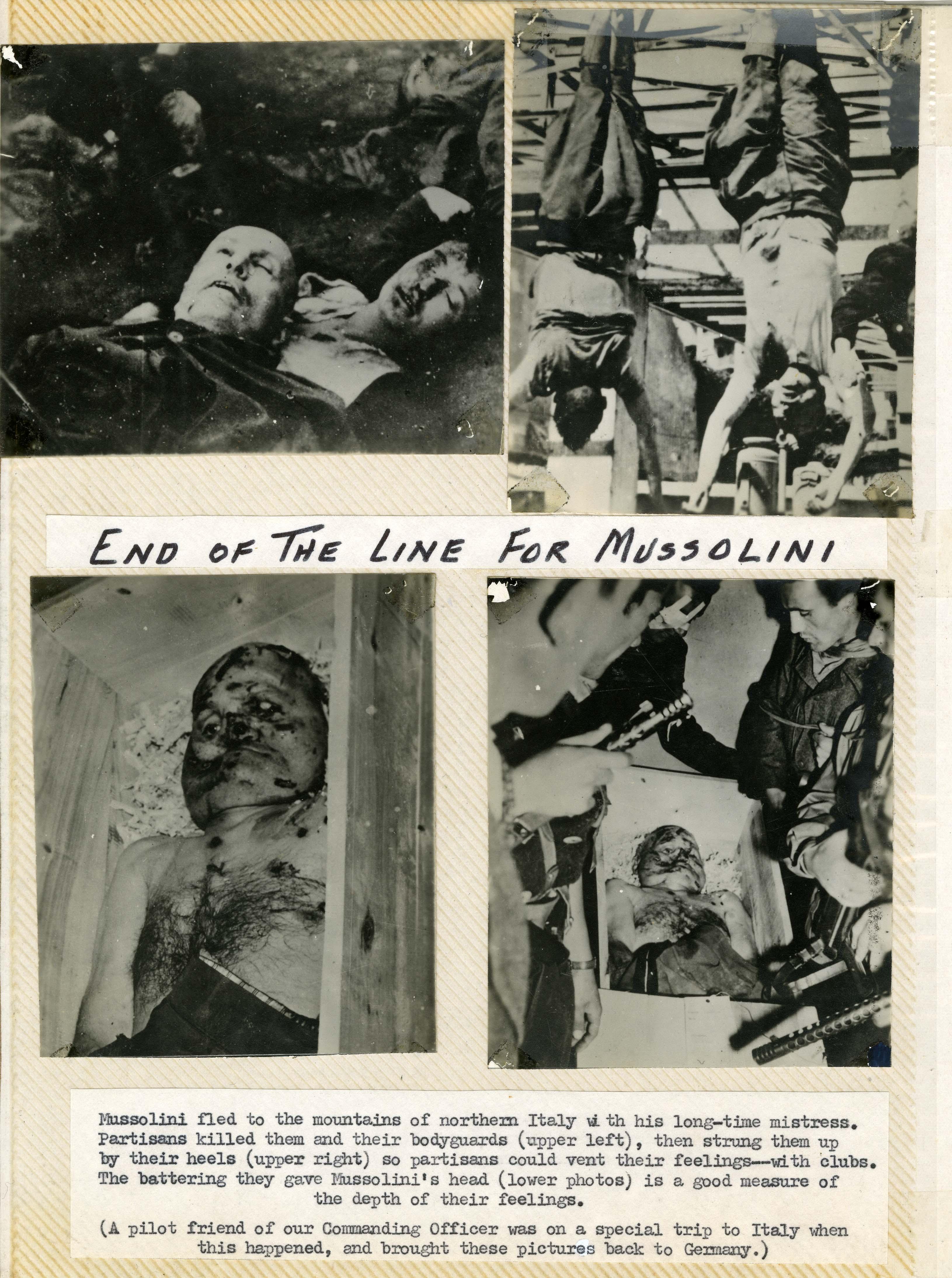Benito Mussolini, corpse