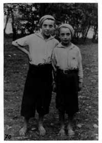 Joe and Peseach Engel (brother), Zakroczym, Poland, 1938