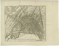Plan de la Ville de Amsterdam / De Platte grond van de Stad Amsteldam